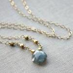 minimal jewelry labradorite necklac..